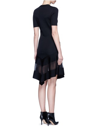 Back View - Click To Enlarge - Givenchy Beauty - Contrast mesh panel knit dress