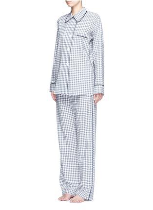 Figure View - Click To Enlarge - Araks - 'Ally' gingham check organic cotton pyjama pants