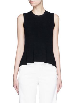 Main View - Click To Enlarge - Theory - 'Mayanly' flare hem rib knit sleeveless top