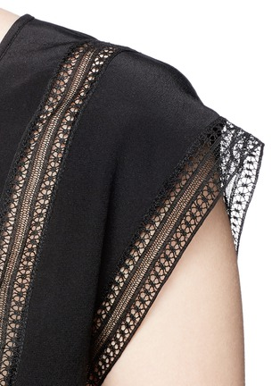 Detail View - Click To Enlarge - Theory - 'Raballa' lace insert silk top