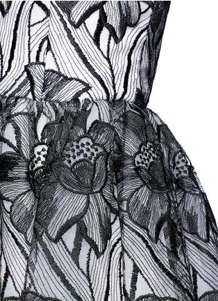 Detail View - Click To Enlarge - alice + olivia - 'Izabelle' floral embroidery off-shoulder flare dress