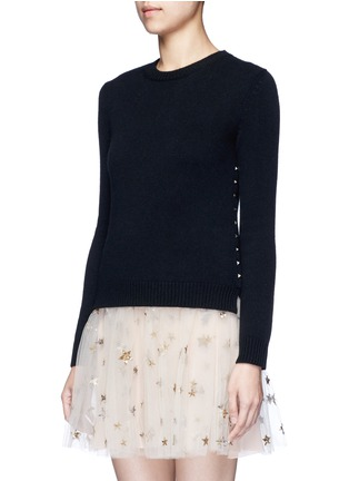 Front View - Click To Enlarge - Valentino - 'Rockstud Untitled 07' cashmere sweater