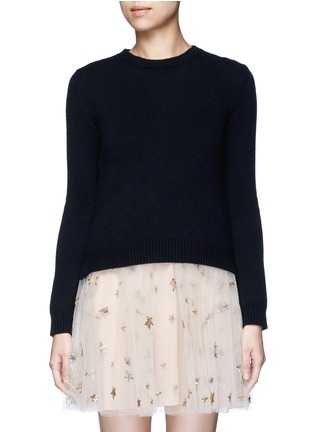Main View - Click To Enlarge - Valentino - 'Rockstud Untitled 07' cashmere sweater