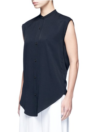 Front View - Click To Enlarge - Helmut Lang - Split back knot jacquard twill shirt