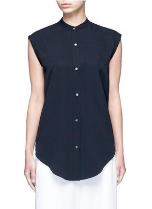 Main View - Click To Enlarge - Helmut Lang - Split back knot jacquard twill shirt