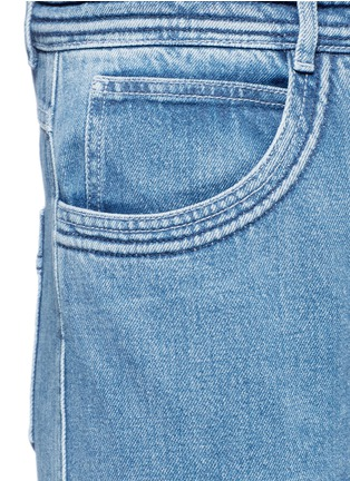 Detail View - Click To Enlarge - Chloé - Frayed cuff cotton jeans