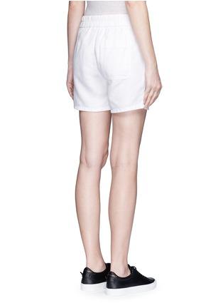 Back View - Click To Enlarge - James Perse - Cotton-linen piqué shorts