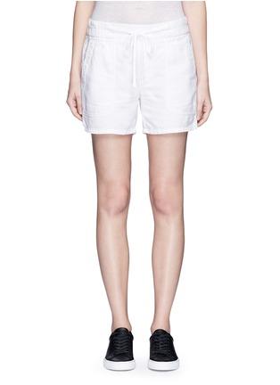 Main View - Click To Enlarge - James Perse - Cotton-linen piqué shorts