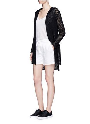 Figure View - Click To Enlarge - James Perse - Cotton-linen piqué shorts