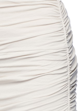 Detail View - Click To Enlarge - JAMES PERSE - Shirred double layer tube skirt