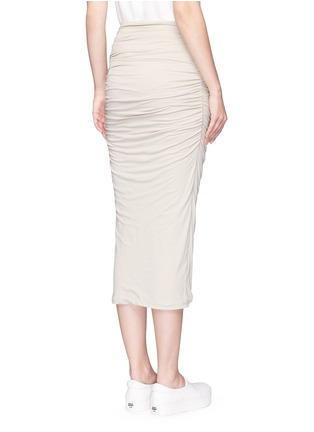 Back View - Click To Enlarge - JAMES PERSE - Shirred double layer tube skirt