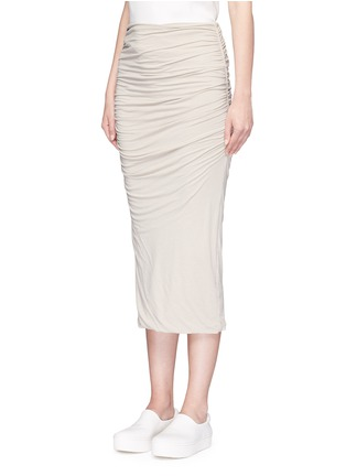 Front View - Click To Enlarge - JAMES PERSE - Shirred double layer tube skirt