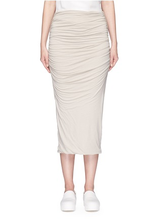 Main View - Click To Enlarge - JAMES PERSE - Shirred double layer tube skirt