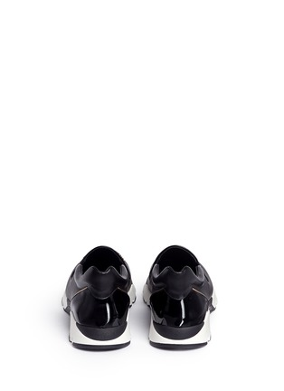 Back View - Click To Enlarge - René Caovilla - Strass embellished mix leather slip-on sneakers