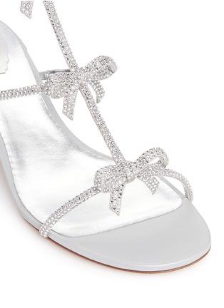 Detail View - Click To Enlarge - RENÉ CAOVILLA - Strass pavé bow satin sandals