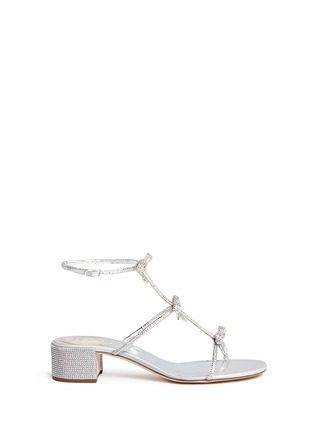 Main View - Click To Enlarge - René Caovilla - Strass pavé bow satin sandals