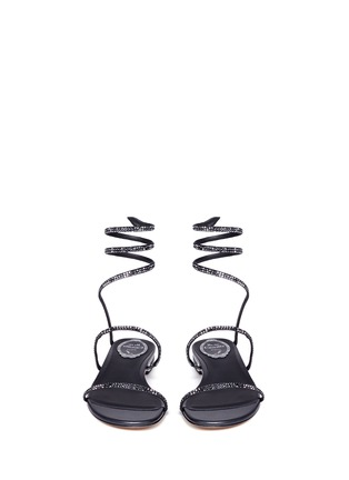 Front View - Click To Enlarge - René Caovilla - 'Snake' strass pavé spring coil sandals