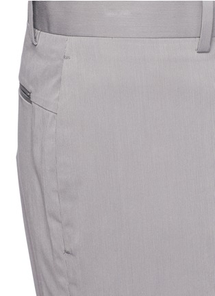 Detail View - Click To Enlarge - Theory - 'Beck' stripe cotton blend shorts
