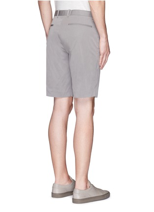 Back View - Click To Enlarge - Theory - 'Beck' stripe cotton blend shorts