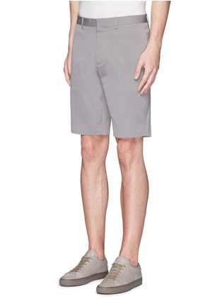 Front View - Click To Enlarge - Theory - 'Beck' stripe cotton blend shorts