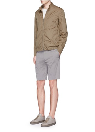 Figure View - Click To Enlarge - Theory - 'Beck' stripe cotton blend shorts