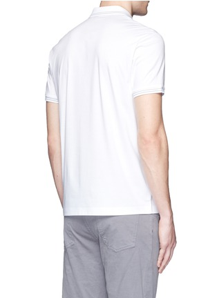 Back View - Click To Enlarge - Theory - 'Boyd TC' cotton jersey polo shirt