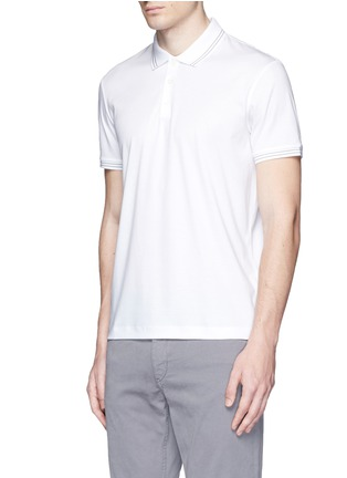 Front View - Click To Enlarge - Theory - 'Boyd TC' cotton jersey polo shirt