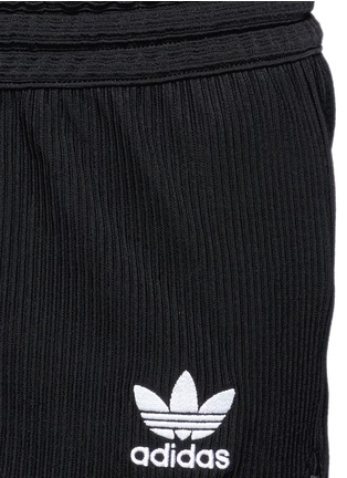 Detail View - Click To Enlarge - ADIDAS - Drawstring jacquard running shorts