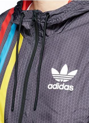 Detail View - Click To Enlarge - Adidas - Retro stripe print windbreaker jacket