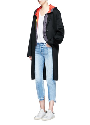 Figure View - Click To Enlarge - Adidas - Retro stripe print windbreaker jacket