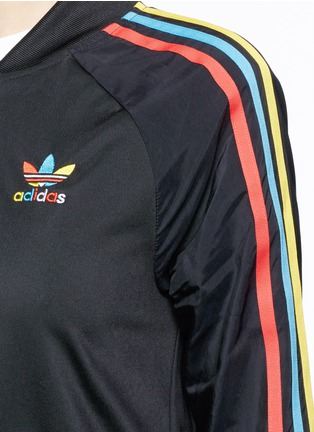 Detail View - Click To Enlarge - Adidas - 'Superstar' stripe print track jacket