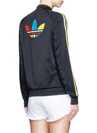 Back View - Click To Enlarge - Adidas - 'Superstar' stripe print track jacket