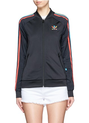 Main View - Click To Enlarge - Adidas - 'Superstar' stripe print track jacket