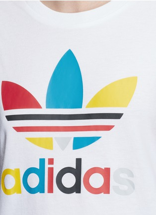 Detail View - Click To Enlarge - Adidas - '70's Saturday Night Fever' Trefoil logo print T-shirt