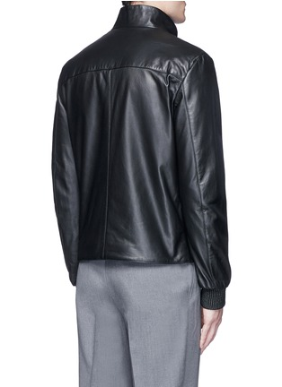 Back View - Click To Enlarge - Armani Collezioni - Diamond embossed leather jacket