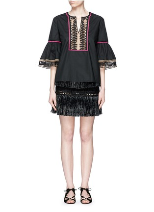 Figure View - Click To Enlarge - Temperley London - 'Clara' leaf guipure lace peasant blouse
