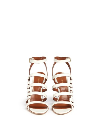 Front View - Click To Enlarge - SERGIO ROSSI - Chunky heel strappy leather sandals