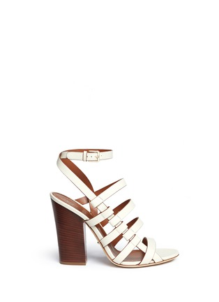 Main View - Click To Enlarge - SERGIO ROSSI - Chunky heel strappy leather sandals