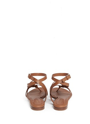 Back View - Click To Enlarge - SERGIO ROSSI - Strappy leather sandals