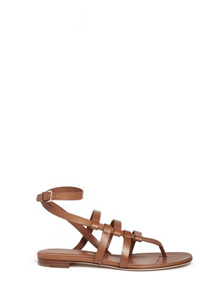 Main View - Click To Enlarge - SERGIO ROSSI - Strappy leather sandals