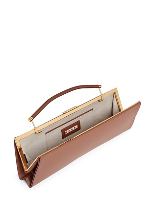 Detail View - Click To Enlarge - Marni - 'Sailor' top handle long leather clutch