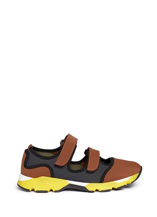 Main View - Click To Enlarge - MARNI - strap mesh neoprene sneakers