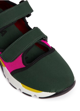 Detail View - Click To Enlarge - Marni - Double strap techno mesh sneakers