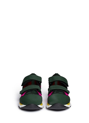Front View - Click To Enlarge - Marni - Double strap techno mesh sneakers