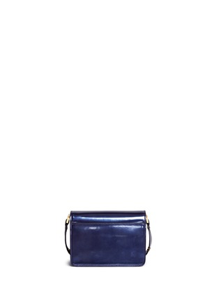 Back View - Click To Enlarge - Marni - 'Trunk' mini acccordion patent leather flap bag
