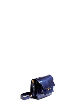 Front View - Click To Enlarge - Marni - 'Trunk' mini acccordion patent leather flap bag
