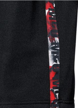 Detail View - Click To Enlarge - McQ Alexander McQueen - Oversized floral logo stripe sweatshirt