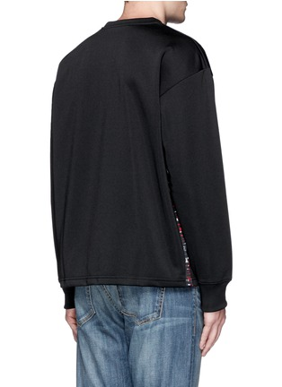Back View - Click To Enlarge - McQ Alexander McQueen - Oversized floral logo stripe sweatshirt