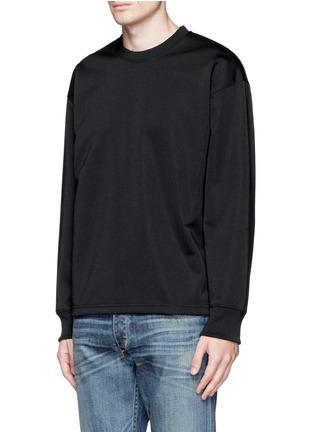 Front View - Click To Enlarge - McQ Alexander McQueen - Oversized floral logo stripe sweatshirt