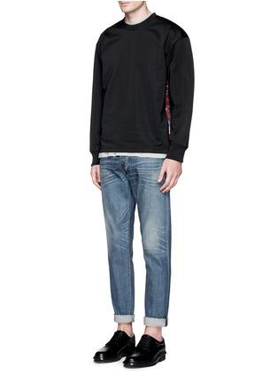 Figure View - Click To Enlarge - McQ Alexander McQueen - Oversized floral logo stripe sweatshirt